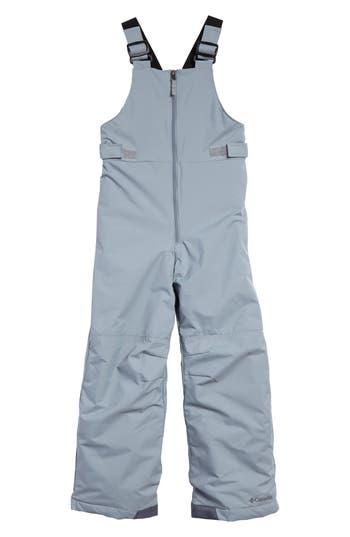 Boys Columbia Snowslope Ii OmniShield Waterproof Bib Snowsuit Size XS (67)  Grey