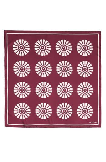 Women's Valentino Garavani Medallion Print Square Silk Scarf, Size One Size - Brown