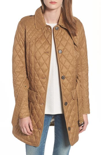Barbour Hailes Quilted Trench Jacket, US / 14 UK - Beige