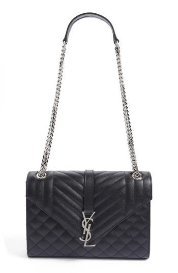 Saint Laurent Large Monogram Quilted Leather Shoulder Bag