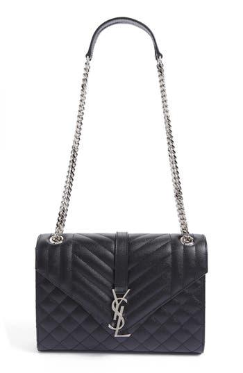 Saint Laurent Medium Monogram Quilted Leather Shoulder Bag