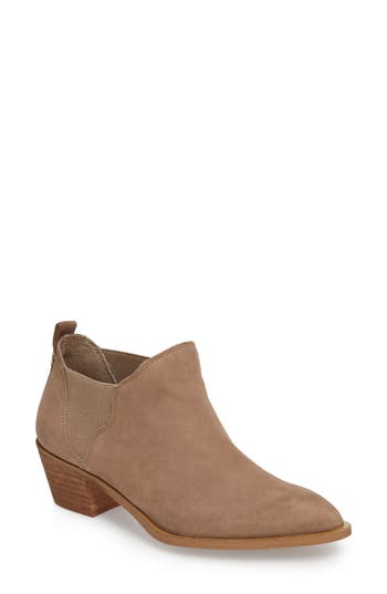 Sole Society Nancy Scalloped Chelsea Bootie, Brown