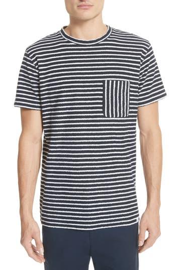 Men's Norse Projects Niels Stripe Pocket T-Shirt, Size Large - Blue