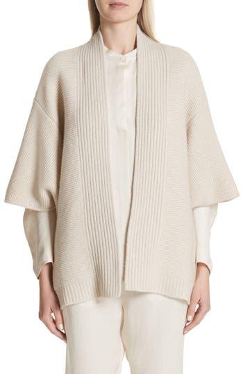 Zero + Maria Cornejo Cashmere & Merino Wool Cardigan, Ivory