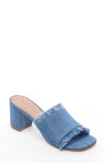 Bernardo Footwear Blair Fringe Mule, Blue