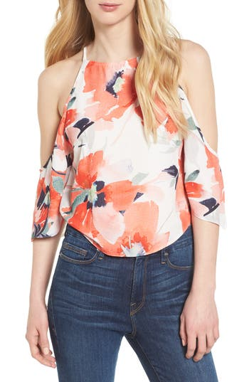 Women's Bishop + Young Ava Cold Shoulder Top, Size X-Small - Red