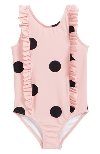 Girl's Tucker + Tate Ruffle One-Piece Swimsuit, Size 4 - Pink