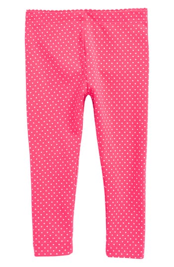 Infant Girl's Tea Collection Pin Dot Leggings, Size 3-6M - Pink