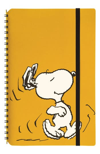 Vacavaliente Large Snoopy Simple Notebook - Yellow
