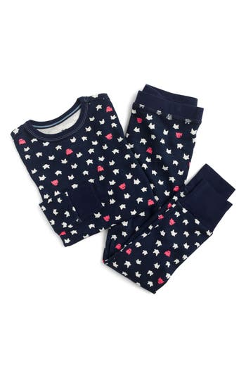 Girls Crewcuts Sleepy Cats Fitted TwoPiece Pajamas