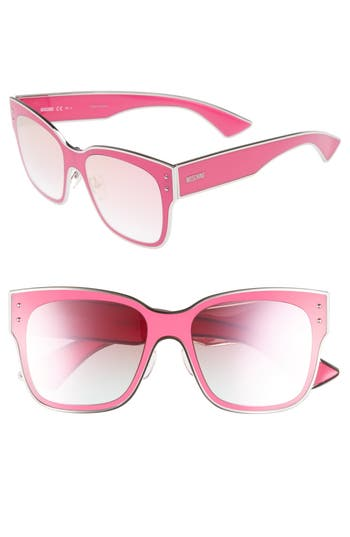 Women's Moschino 55Mm Cat Eye Sunglasses - Fuchsia