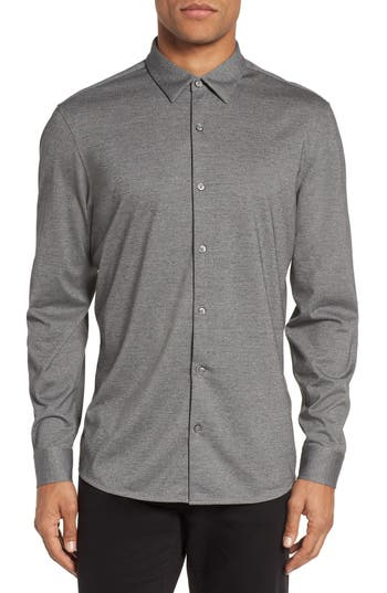 Calibrate Knit Sport Shirt, Grey