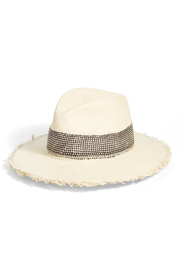 rag & bone Frayed Edge Panama Straw Hat
