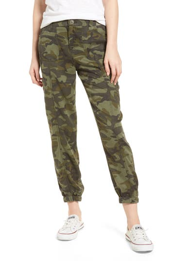 Love, Fire Camo Print Cargo Pants, Green
