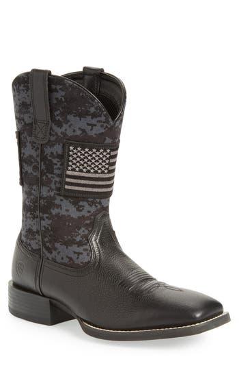 Ariat Sport Patriot Cowboy Boot- Black