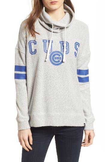 47 female womens 47 offsides chicago cubs funnel neck sweatshirt size large grey