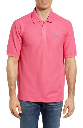 Men's Tommy Bahama 'The Emfielder' Original Fit Pique Polo, Size Medium - Pink
