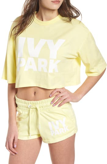 Ivy Park Programme Logo Crop Tee, Yellow