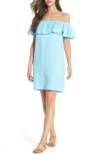 Tommy Bahama Off The Shoulder Cover-Up Dress, Blue