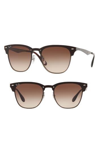 Ray-Ban Blaze Clubmaster 50Mm Sunglasses - Gunmetal