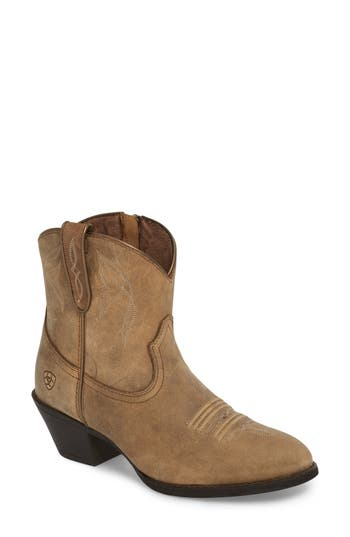 Ariat Darlin Short Western Boot- Brown