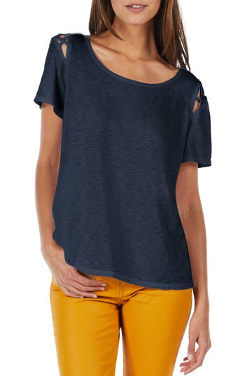 Michael Stars Crisscross Detail Swing Tee, Size One Size - Grey