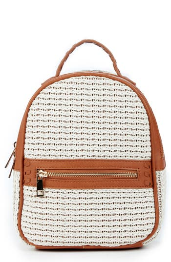 Sole Society Nikole Faux Leather Backpack - Brown