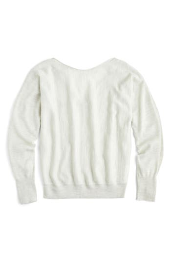 J.crew Dolman Merino Wool V-Back Sweater, Grey