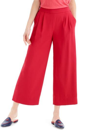 J.crew Wide Leg Crop Pants, Red