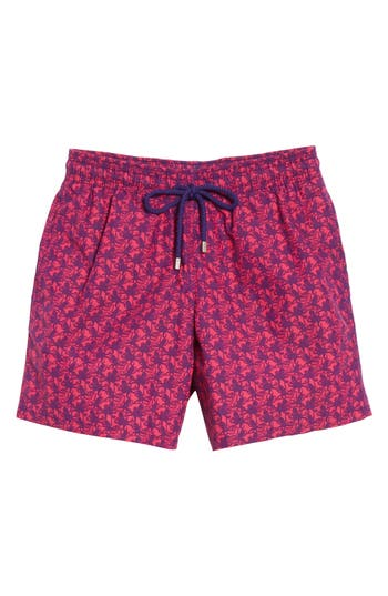 Vilebrequin Mini Octopus Print Swim Trunks, Pink