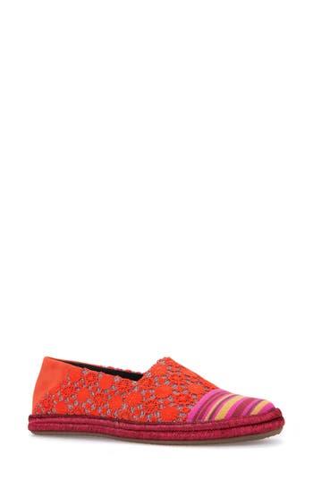 women's geox modesty flat, size 10.5us / 41eu - red