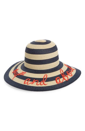 kate spade out and about straw hat