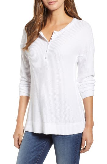 Caslon® Thermal Henley Top