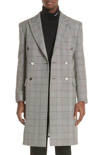 CALVIN KLEIN 205W39NYC Plaid Overcoat