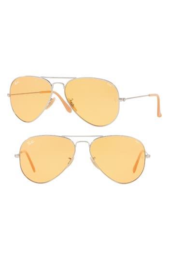 Ray-Ban 5m Polarized Photochromic Aviator Sunglasses - Silver