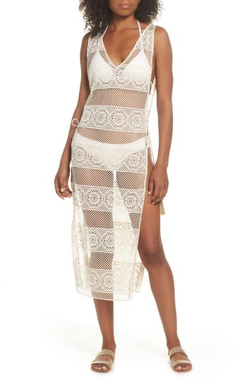 Pilyq Joy Lace Cover-Up Dress, White