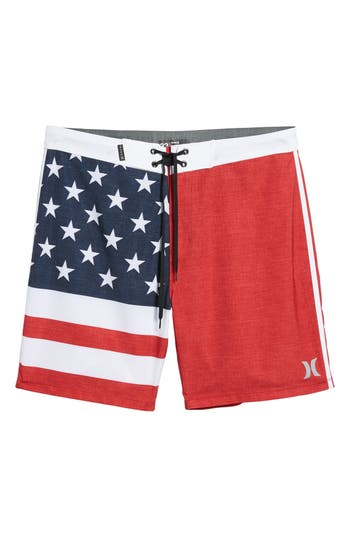 Hurley Phantom Cheers Board Shorts, Red