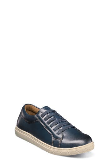 Boys Florsheim Curb Elastic Lace Sneaker Size 4 M  Blue