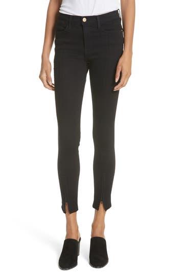 FRAME Le High Split Hem Skinny Jeans