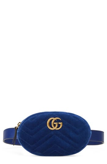 Gucci Small GG Marmont 2.0 Velvet Belt Bag