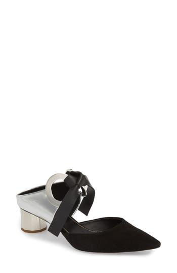 Proenza Schouler Grommet Pointy Toe Mule, Metallic