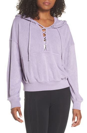 Free People Fp Movement Believer Hoodie, Purple