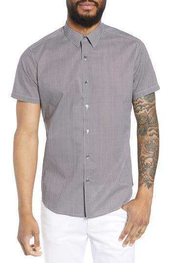 Men's Theory Zack Regular Fit Corner Print Sport Shirt