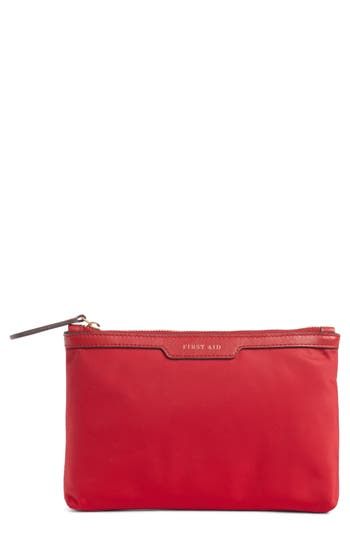 ANYA HINDMARCH LOOSE POCKET FIRST AID NYLON POUCH - RED