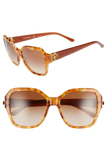 Tory Burch Reva 56mm Square Sunglasses