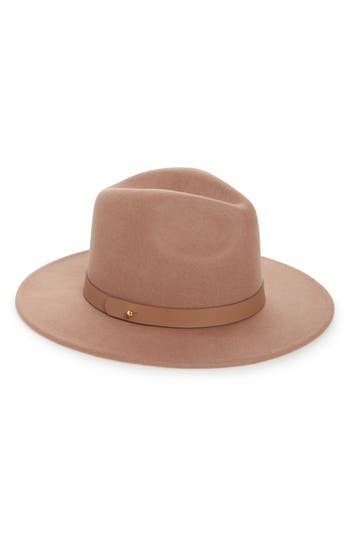 LACK OF COLOR THE FLEUR HIGH CROWN WOOL FEDORA - PINK