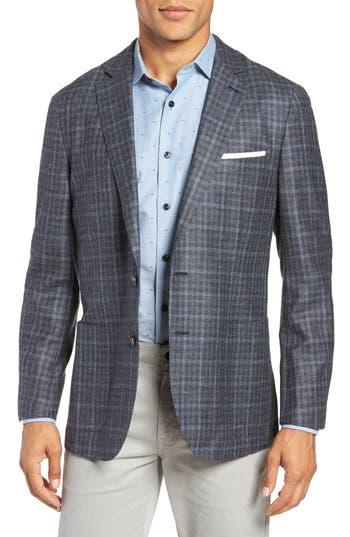 Peter Millar Crown Wool & Silk Blend Plaid Sport Coat