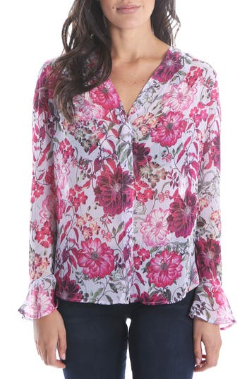 Women's Kut From The Kloth Silvy Floral Blouse