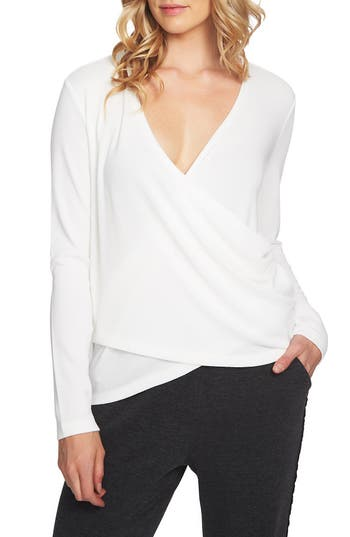 1.STATE WRAP FRONT KNIT TOP