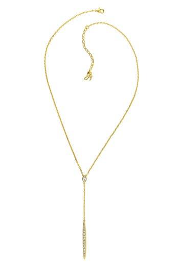 ADORE Pavé Crystal Bar Necklace